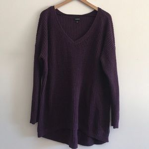 TORRID V-Neck Knit Sweater Size 2X